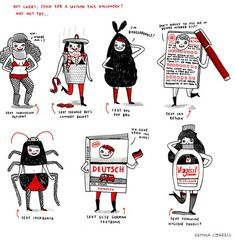 "The""sexy poo bag"" and other truly unsexy sexy costume ideas from @ gemmacorrell."
