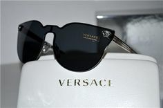 cf17ba15dd New Unique Rimless Authentic Versace Sunglasses VE2120 100087 VE 2120 Italy