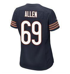 9c0c23cbaba Chicago Bears Jared Allen  69 Women s Gameday Jersey Chicago Bears