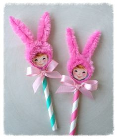 bunny cupcake toppers | Flickr - Photo Sharing!