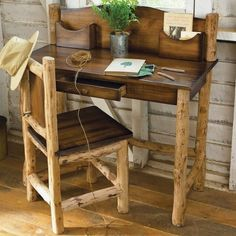 42 Inspiring Rustic Home Office Designs : 42 Awesome Rustic Home Office Designs With White Wooden Wall Table Chair Hard Flower Hardwood Floor Window Home Office Furniture Design, Modern Office Design, Home Interior Design, Home Furniture, Office Designs, Office Ideas, Rustic Home Offices, Rustic Home Interiors, Rustic Home Design