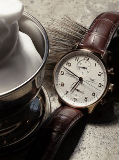 Discover the IWC Portugieser Chronograph. The elegant design and moderate height of the case have made the Portugieser Chronograph one of the most sought-after Portuguese models of them all.