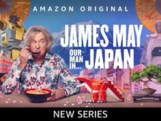 James May embarks on a remarkable journey across Japan, from its icy north to its balmy south. James May, Most Popular Memes, Popular Movies, You Funny, Really Funny, Amazon Video, All In One App, Celebrity Travel, Stand Up Comedy