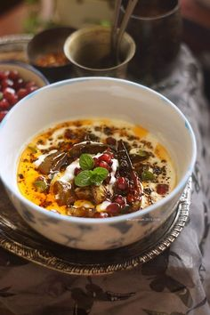 Baingan Ka Raita  ~ Eggplant In Seasoned Yogurt
