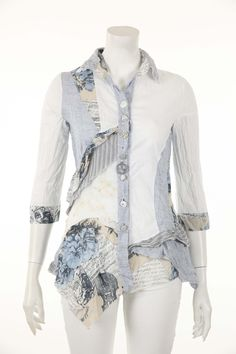 Beautiful mixed fabric top by Elisa Cavaletti