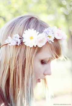 DIY Faux Floral Crowns inspired by Kelli Murray