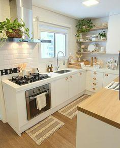 Kitchen Room Design, Home Room Design, Modern Kitchen Design, Home Decor Kitchen, Interior Design Kitchen, Kitchen Furniture, Home Kitchens, Cuisines Design, Beautiful Kitchens