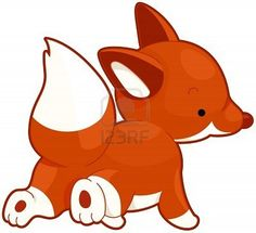 Picture of Illustration of a Red Fox Running While Looking Over its Shoulder stock photo, images and stock photography. Fox Illustration, Graphic Design Illustration, Illustrations, Fox Running, Little Fox, Red Fox, Buy Posters, Mammals, Pikachu