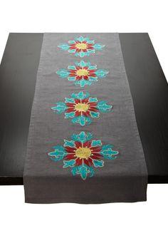 Blissliving Home- Samsara Bright Emb. Table Runner frm Ideeli