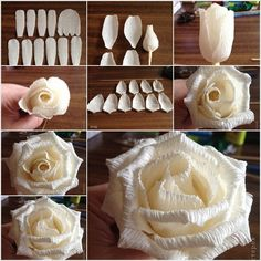 To make a rose from corrugated paper to begin with reduce petals of white corrugated paper in several sizes as proven. After that wrap the petal minimize for focus on a sweet with a picket stick poked it's wrapping. Then begin wrapping the petals across the middle with the assistance …