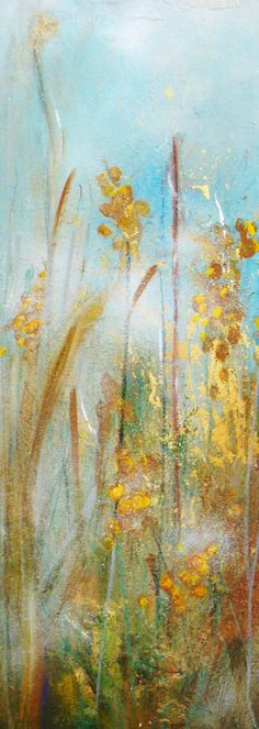 by Gina Koulouri -acrylics and gold leaf on canvas