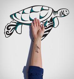 Turtle Temporary Tattoo/Wild Animal Temporary Tattoo/Animal Temporary Tattoo/Tortoise Temporary Tattoo/Body Tattoo/Leatherback Tattoo by EasternCloud on Etsy