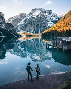The Dolomites. A true contender for one of the most beautiful places on earth. Experiencing autumn here was a dream come true 🙏⠀Follow us at @northabroad on Instagram for travel inspiration, tips and more from our lives as digital nomads. #italy #europe #travel #digitalnomad Digital Nomad, Italy Travel, Couple Photography, Travel Guides, Travel Inspiration, Beautiful Places, Europe, Earth, Autumn