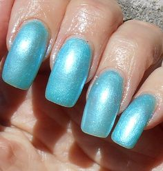 Hey, I found this really awesome Etsy listing at https://www.etsy.com/listing/227446299/sale-shiver-icy-blue-shimmer-nail-polish