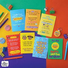 The Playful Indian - Funny Asian Greeting Cards & Gifts Raksha Bandhan Photos, Raksha Bandhan Cards, Raksha Bandhan Gifts, Rakhi Gifts For Sister, Gifts For Brother, Brother Sister, Diy Rakhi Cards, Rakhi Message, Rakhi Quotes