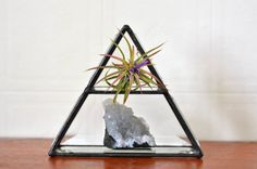 Stained Glass Pyramid Crystal Display by HouseThatCrowBuilt
