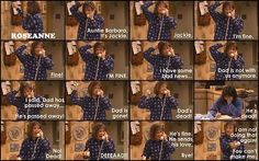 Roseanne...one of the most funniest scenes lmao!!!! Omg, this is one of my favorite episodes!