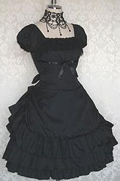EGL Black Dress & Necklace By Millefleurs
