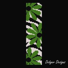 Crazy Daisy 2 - Loom Bracelet Cuff Pattern