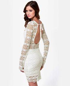 Black Sheep Tasha Ivory Lace Dress #lulusholiday Winter White <3 @Lulus.com
