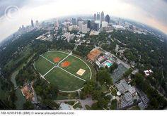 this is a cool prospective of Piedmont Park, Atlanta GA