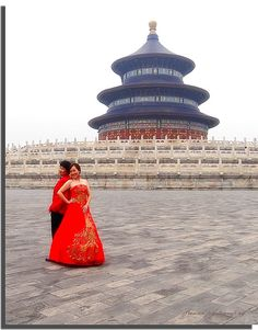 Chinese wedding at the Hall of Prayer for Good Harvest, Temple of Heaven in Beijing (On Explore #202 August 30)