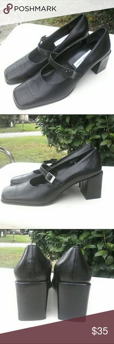"New Etienne Aigner patch Mary Jane leather heels A new pair of Mary Jane style Aigner ""Patch"" heels.  These have all leather uppers with a stable 2.75 inch block heel in size 10M. Ettiene Aigner Shoes Heels"