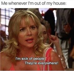 """75 Introvert Memes - """"Me whenever I leave my house.I'm sick of people."""" 75 Introvert Memes - """"Me whenever I leave my house.I'm sick of people. Funny Walmart Pictures, Funny People Pictures, Walmart Pics, Walmart Funny, Funny Babies, Funny Kids, Humor Disney, Funny Disney, Disney Quotes"""