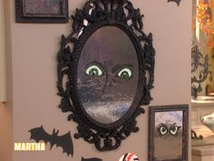 This Halloween, create a haunted mirror that's eerily enticing to your guests—a ghost looks trapped behind the glass with our spooky hands template. Fall Halloween, Halloween Crafts, Fall Crafts, Diy Crafts, Holiday Pictures, Diy Halloween Decorations, Martha Stewart, Creepy, Glow