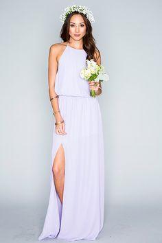 Mumu bridesmaid dresses in lilac