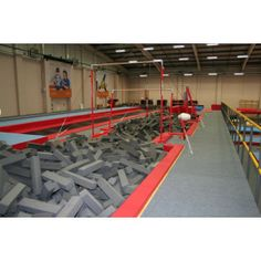 Foam filled dismount pit : Pits : Continental Sports