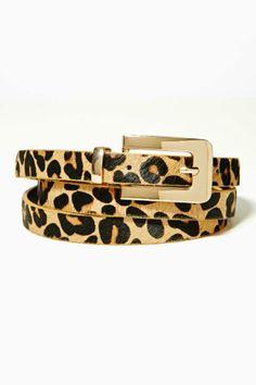 Cat Call Ponyhair Skinny Belt