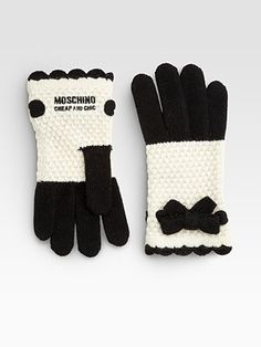Moschino Bow Crochet Gloves - Inspiration only, but this can't be too hard to emulate. Reminds me of LAMB/Harajuku Lovers stuff!