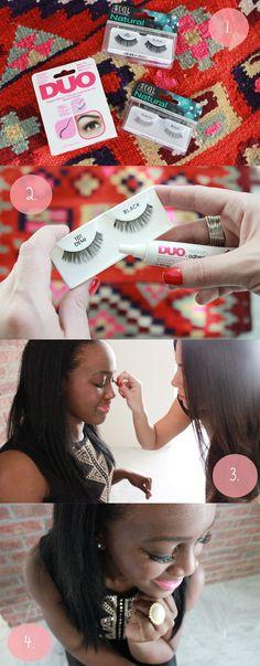 how to: apply eyelashes