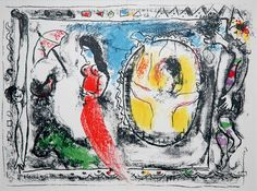 Chagall, Behind the mirror