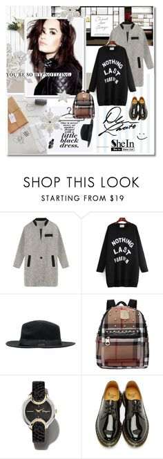 """""""Demi - Shein.com 7"""" by undici ❤ liked on Polyvore featuring Chanel, Salvatore Ferragamo and Dr. Martens"""