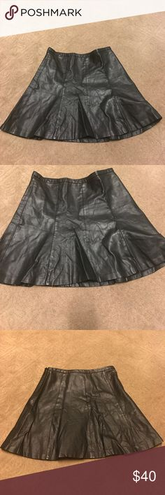 The Limited Brand Faux Leather Skirt Gently used Women's Faux Leather Skirt Size 8 The Limited Skirts
