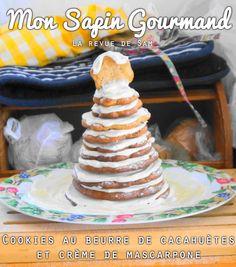Cookies au beurre de cacahuètes et crème de mascarpone La recette ici → http://larevuedesam.com/2016/01/27/un-gouter-enneige-cookies-au-beurre-de-cacahuete-pepites-de-chocolat-au-lait/