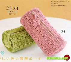 I've been looking for patterns for crocheted makeup bags.