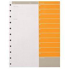 planner pages, circa notebook refills, agenda refill - Levenger