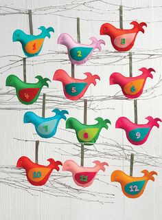12 Little Birdies Advent Calendar by Martingale | That Patchwork Place, via Flickr