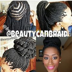 Pre Twisted Crochet Hair Styles : Hair. Hair. And More Hair on Pinterest Senegalese Twists, Cornrows ...
