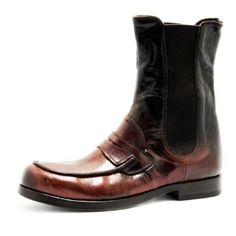 Art. 13/60, Boots in Vitello di colore t.moro/nero fodera in Vitello e fondo in Cuoio #Mauron1959 #Italy #shoe #woman #style #fashion #luxury