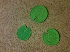 crocheted lily pads