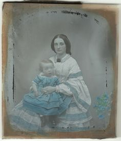 Mother and Child Hand Coloured Ambrotype (Collodion Positive) c. 1860 | Flickr - Photo Sharing!