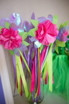 Tinkerbell + Fairy themed birthday party via Kara's Party Ideas | KarasPartyIdeas.com | Cake, Printables, Favors, Games, and MORE! (15)