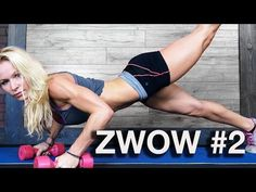 ZWOW #2 – IMPROVED! (Zuzka's 1-26-2012 time 14:43) Workout Breakdown: 1. Manmakers with backward lunge shoulder press x 10 sets 2. Squat jumps forward/back Burpees x 20 3. Twisted Toe Touch Push Up x 5/5 4. Sit up to seated forward bend 20 Complete 3 rounds for time. | Zuzka Light