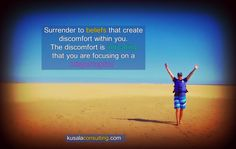 Discomfort is indicating a misperception #feelthefeeling #focus