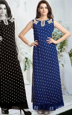 Fancy Blue Color Salwar Kameez for Wedding