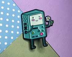 BMO Blush Enamel Lapel Pin Kawaii Jewelry, Cute Jewelry, Cute Little Things, Girly Things, Pin Man, Brooklyn Baby, Jacket Pins, Cool Pins, Pin And Patches